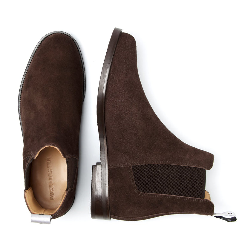 WOOLF Jersey Brown Chelsea Boot