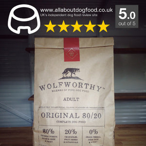 AllAboutDogFood.co.uk Awards Wolfworthy 5 out of 5!