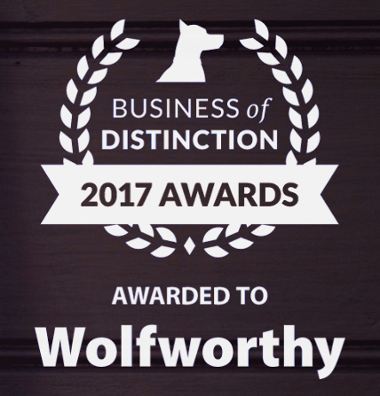 Wolfworthy Wins Business of Distinction Award 2017 from eDogAdvisor
