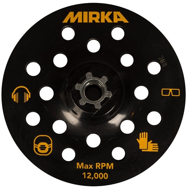 MIRKA 125mm M14 grip backing pad 17H for suction hood