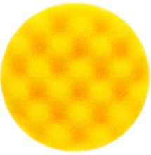 MIRKA 85x25mm yellow waffle polishing foam pad