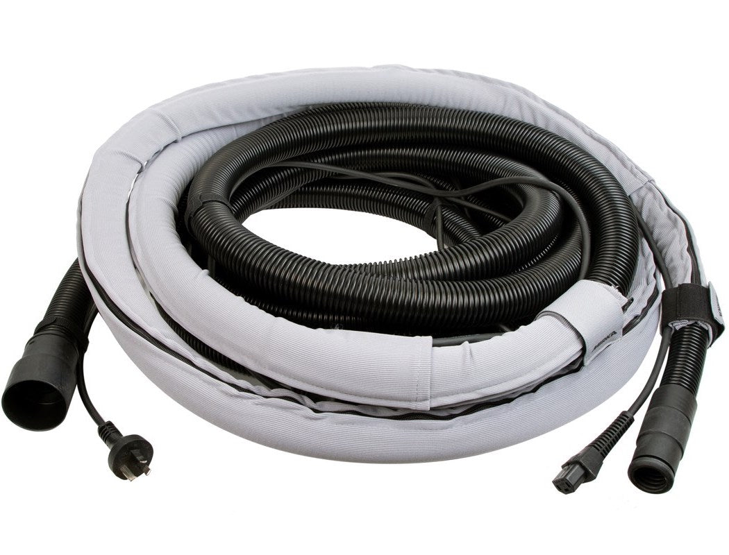 MIRKA hose with integrated cable and sleeve 27mm x 10m plus connector