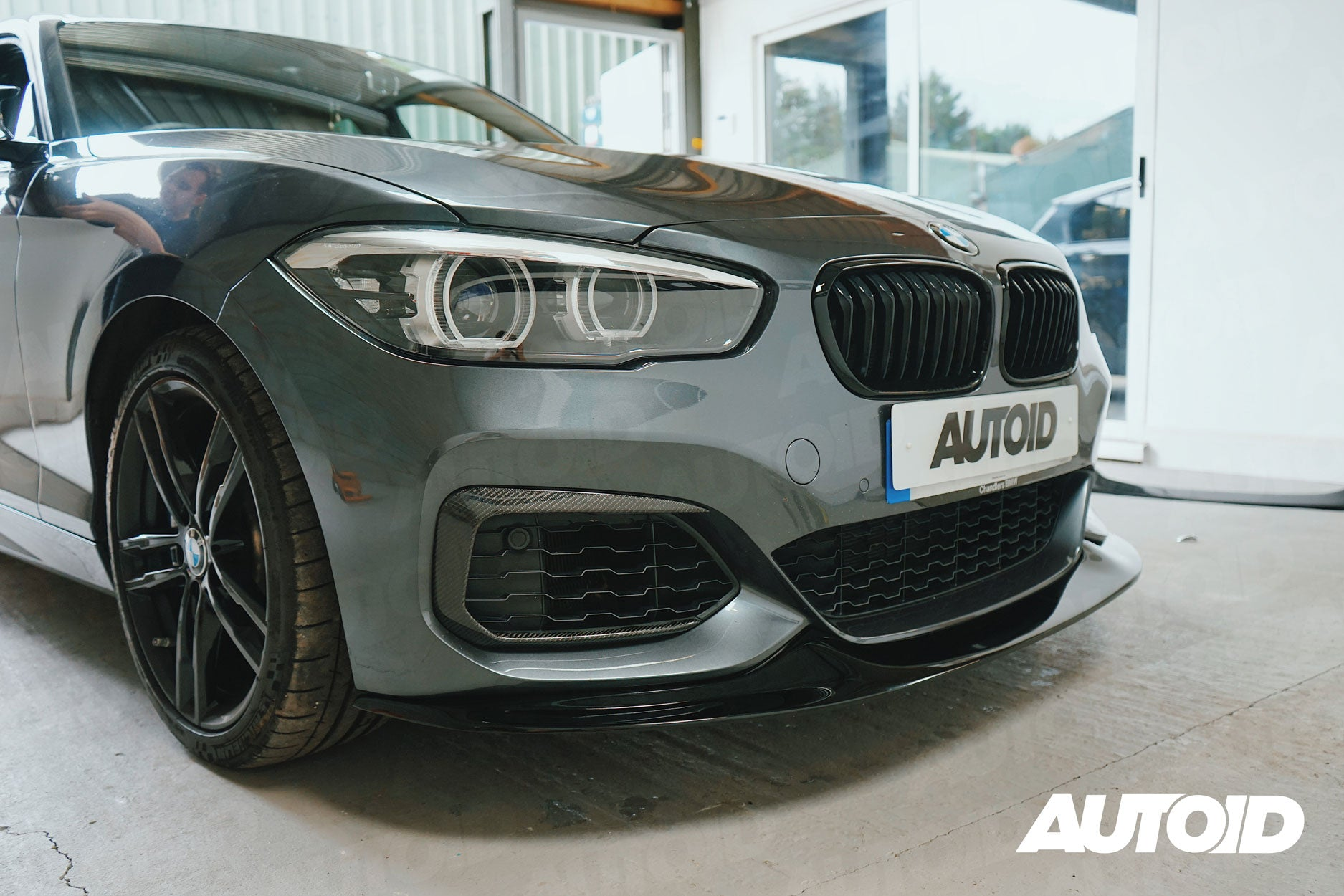 AUTOID Gloss Black GTS Front Splitter for BMW 1 Series (LCI, 2015+)