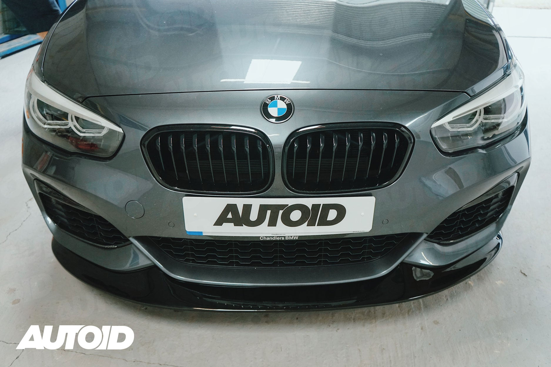 AUTOID Gloss Black Double Slat Kidney Grilles for BMW 1 Series (LCI, 2015+)