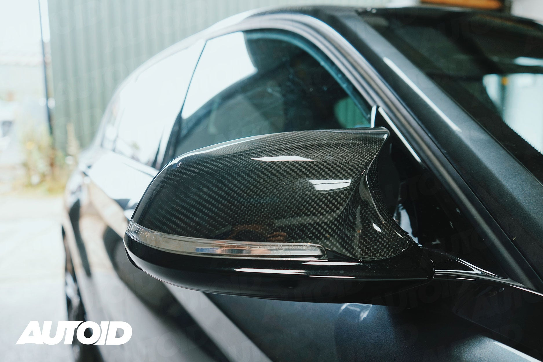 AUTOID TRE Full Carbon Fibre Performance Wing Mirror Unit for BMW (Various Models) _ Front