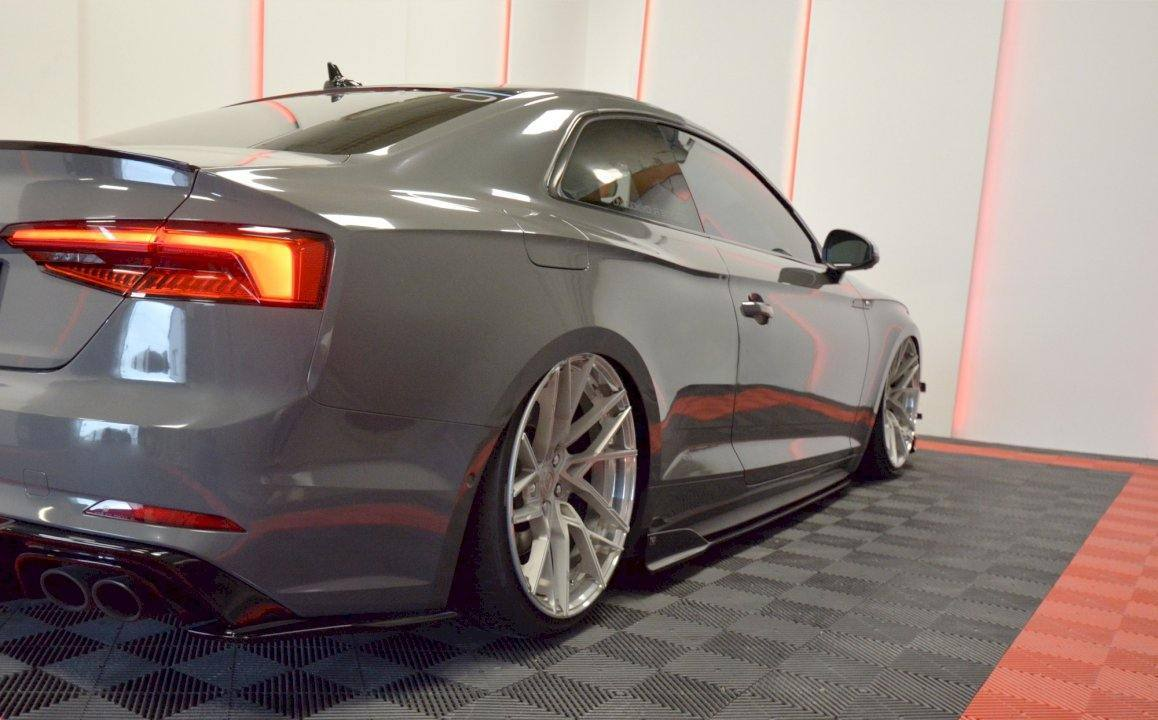 Maxton Gloss Black Side Skirts for Audi S5 (2017+, F5)