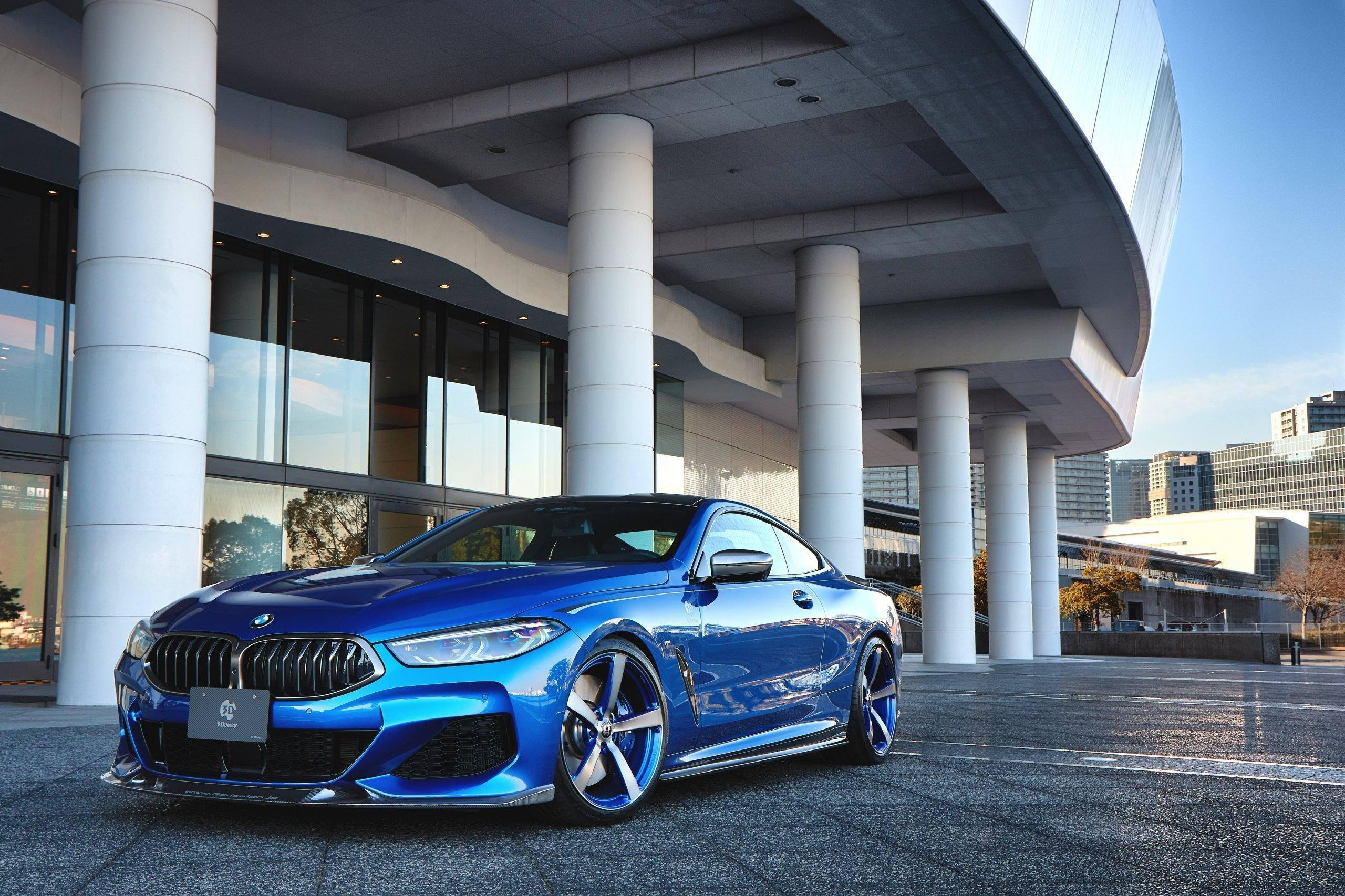3DDesign Carbon Fibre Front Lip for BMW 8 Series (2019+, G14 G15 G16)