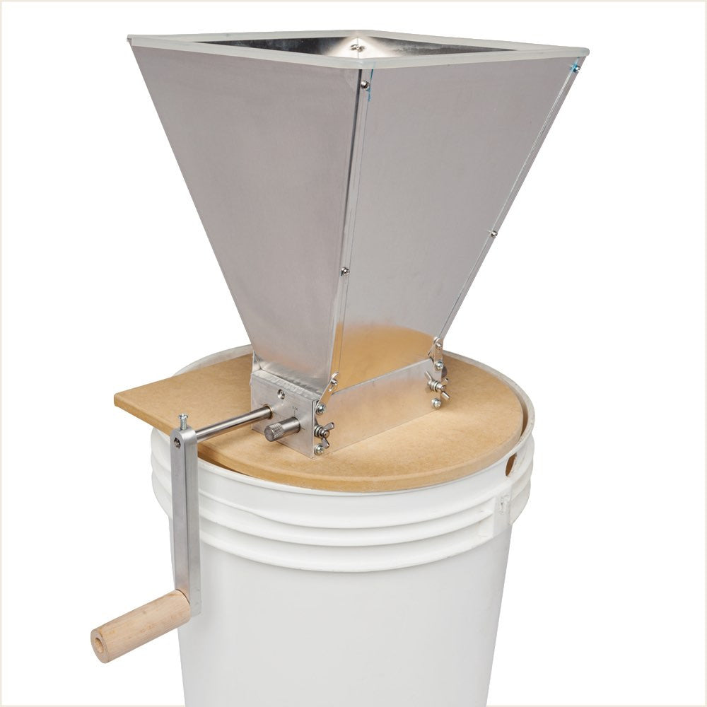 Twin Roller Grain Mill with Hopper
