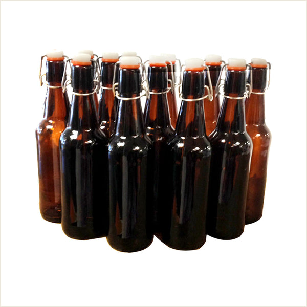 Amber Swing Top Beer Bottles 500ml by iMake - From Scratch