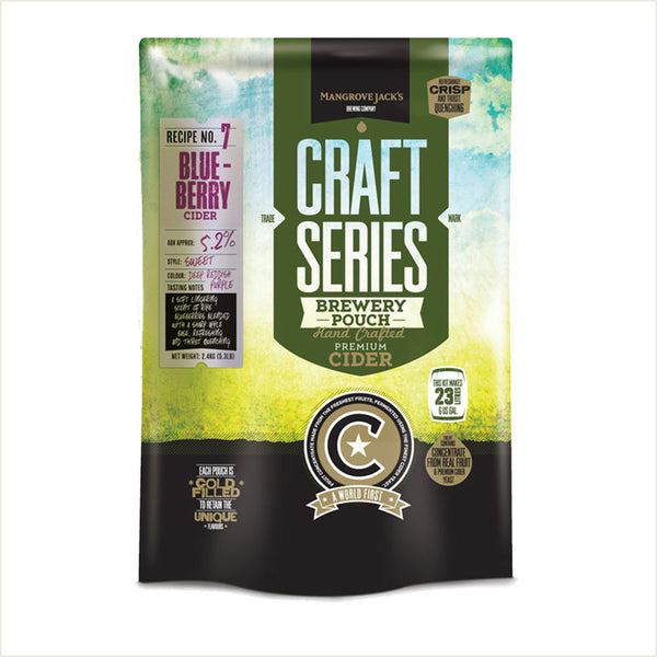 Craft Series Blueberry Cider Pouch by Mangrove Jack's - From Scratch