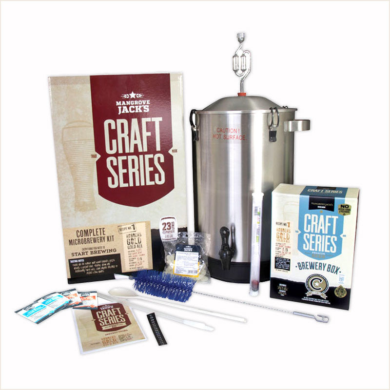 Stainless Steel Microbrewery - all you need to brew your first 23L of Craft Beer! by Mangrove Jack's - From Scratch