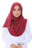Aida Silk Shawl - Biking Red