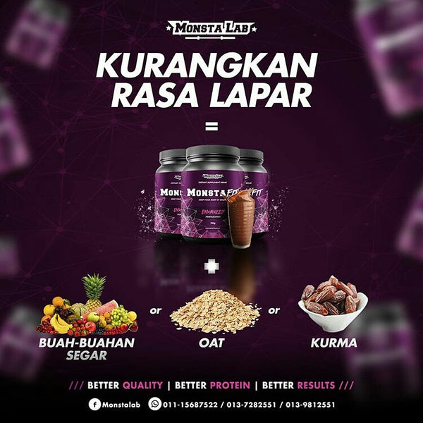 Monsta Fit Advanced - Formulation w Enoki Mushroom (Contain Chitoglucan)