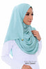 Aida Silk Shawl - Mint Green