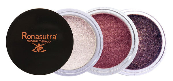 Mineral Eye Colour (Palette E2) - Pearl, Mauve, Plum Brown
