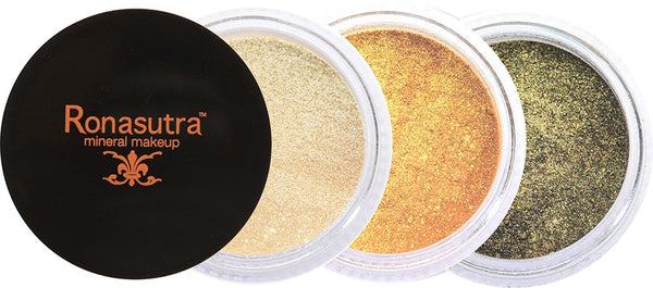 Mineral Eye Colour (Palette E3) - Light Gold, Gold, Dark Green