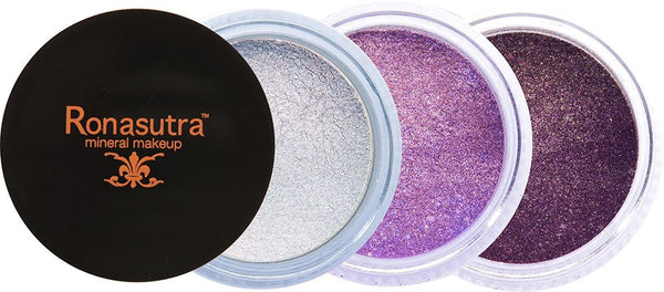 Mineral Eye Colour (Palette E4) - Soft Silver, Violet, Purple Brown