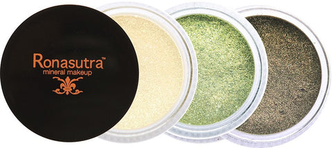 Mineral Eye Colour (Palette E5) - Sunlight, Emerald, Moss Brown