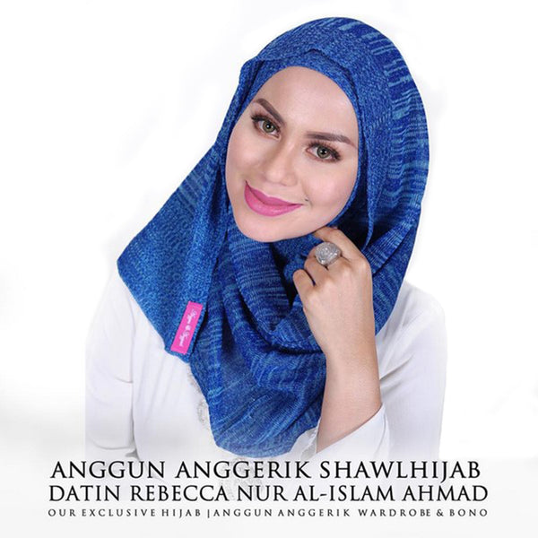 Stripey Shawl - Blue