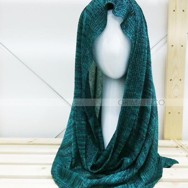 Stripey Shawl - Dark Green