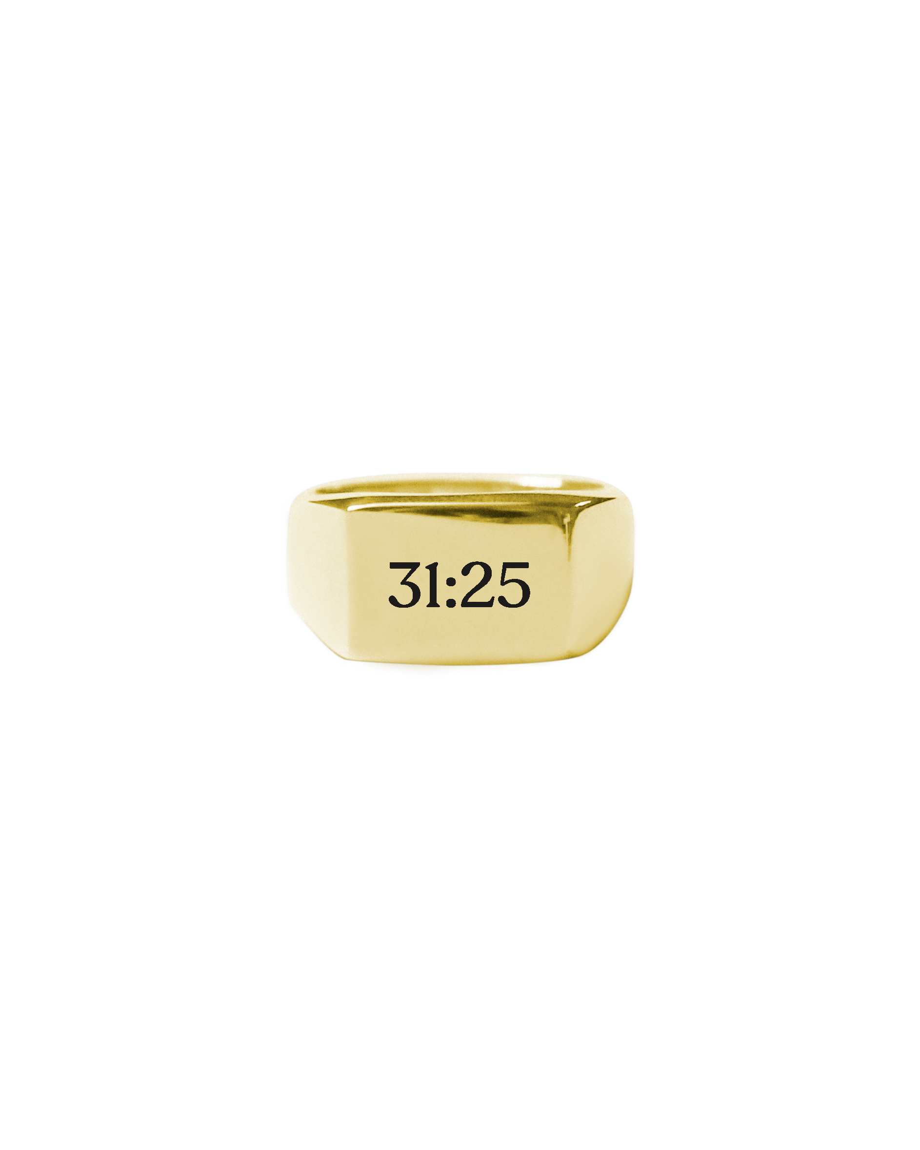 Block Signet Ring [With Engraving]