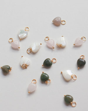 Charms: Mother of Pearl (Heart)