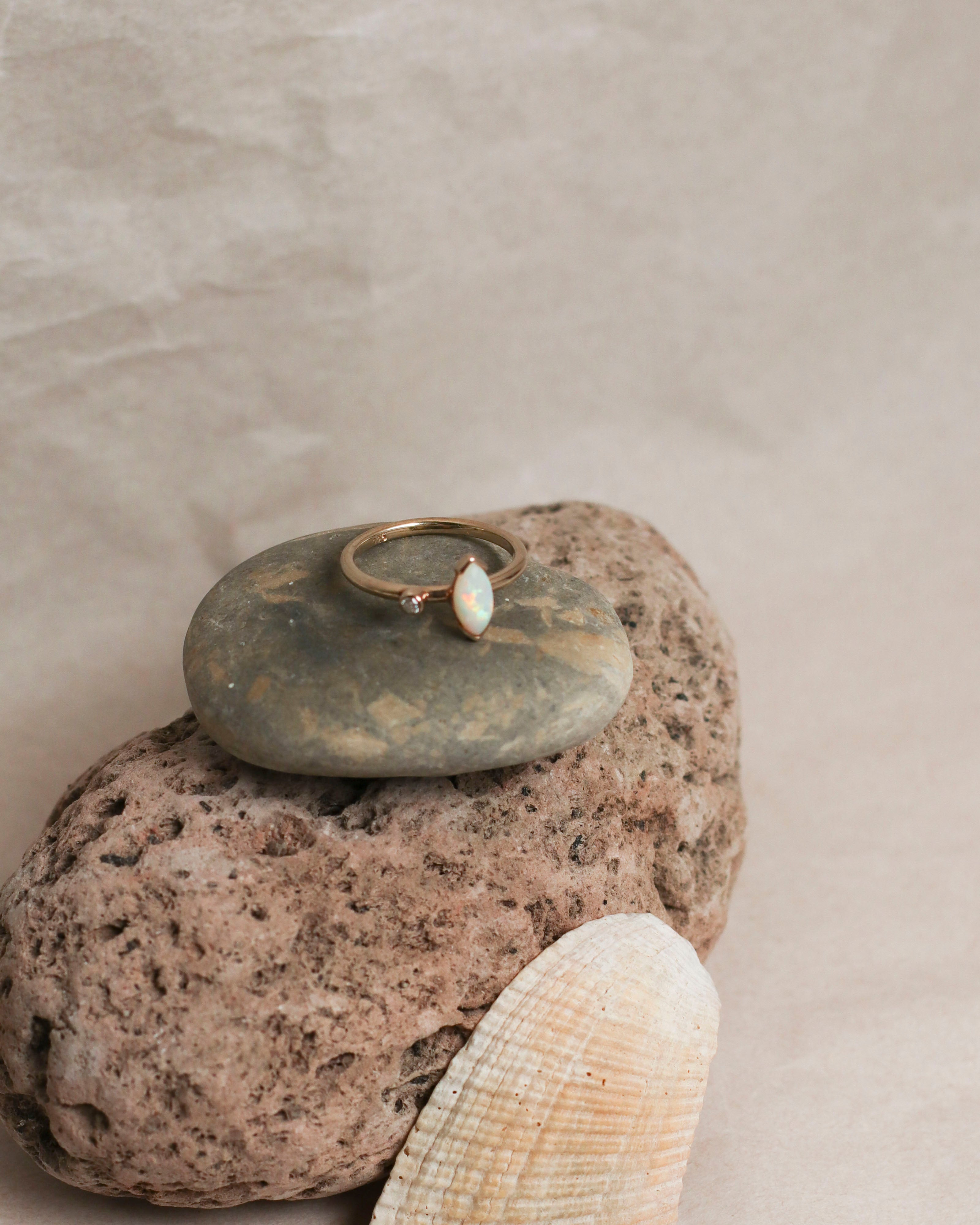 Marquise Opal Ring