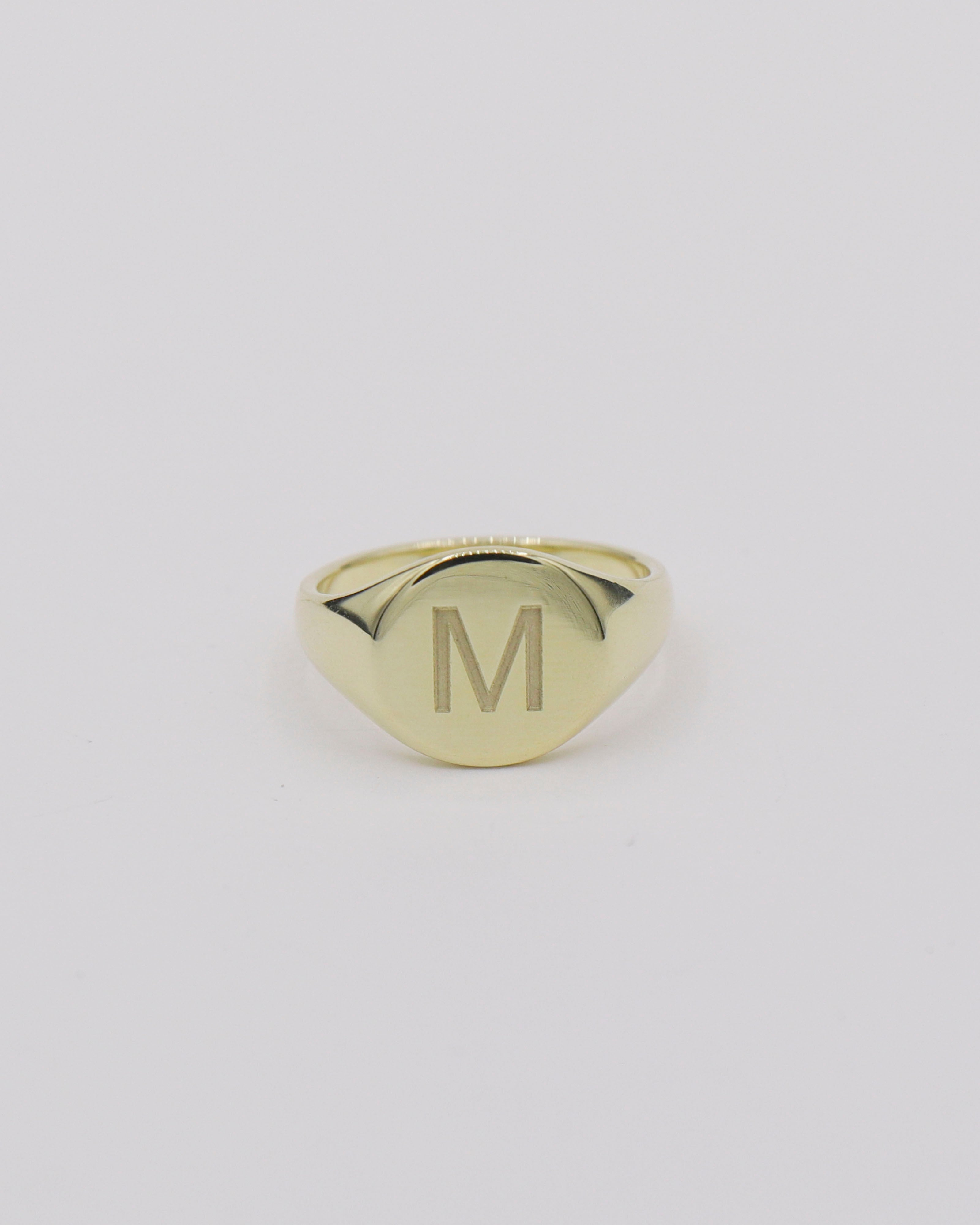 """M"" Signet Ring [AS-IS]"