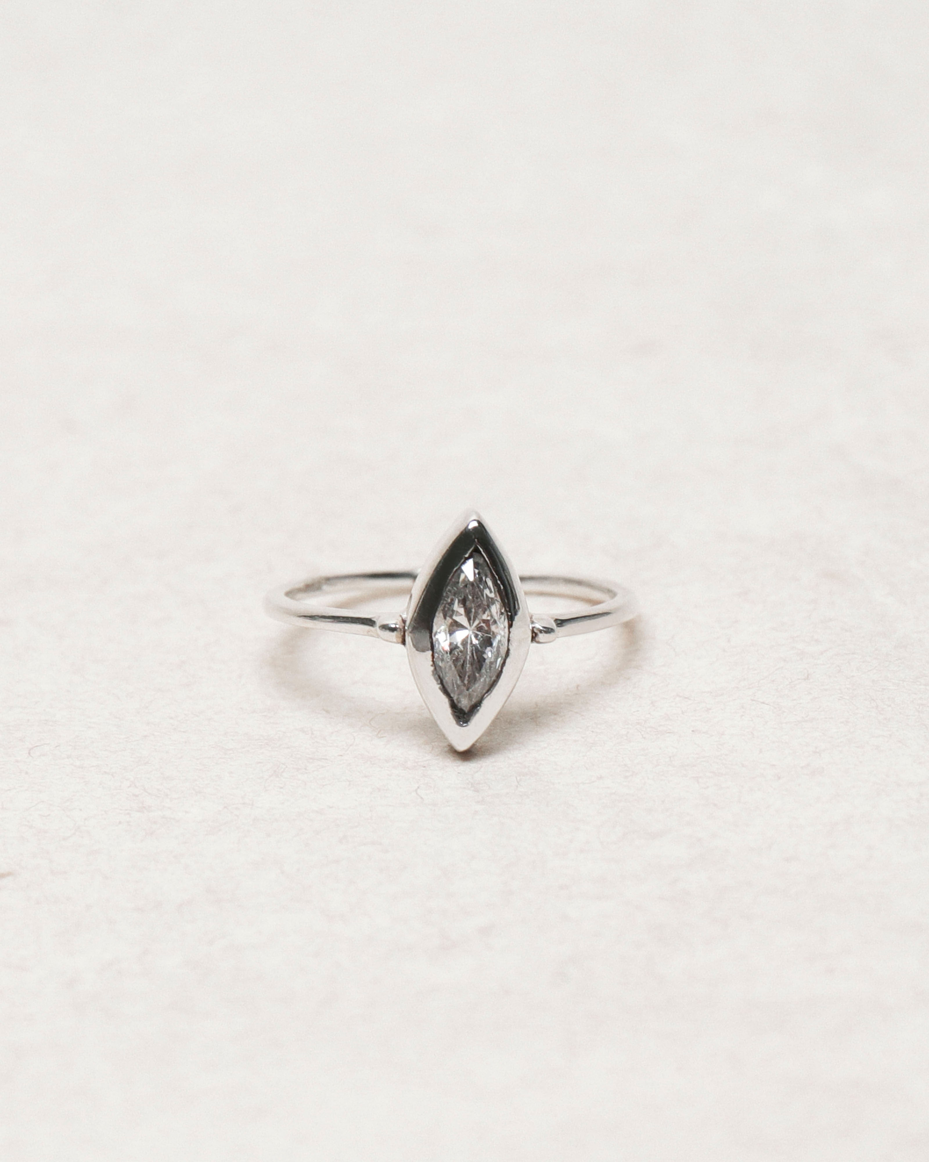 Alethia Ring: White Spinel
