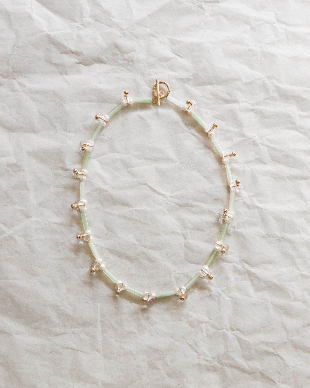 Droplets Necklace: Jadeite