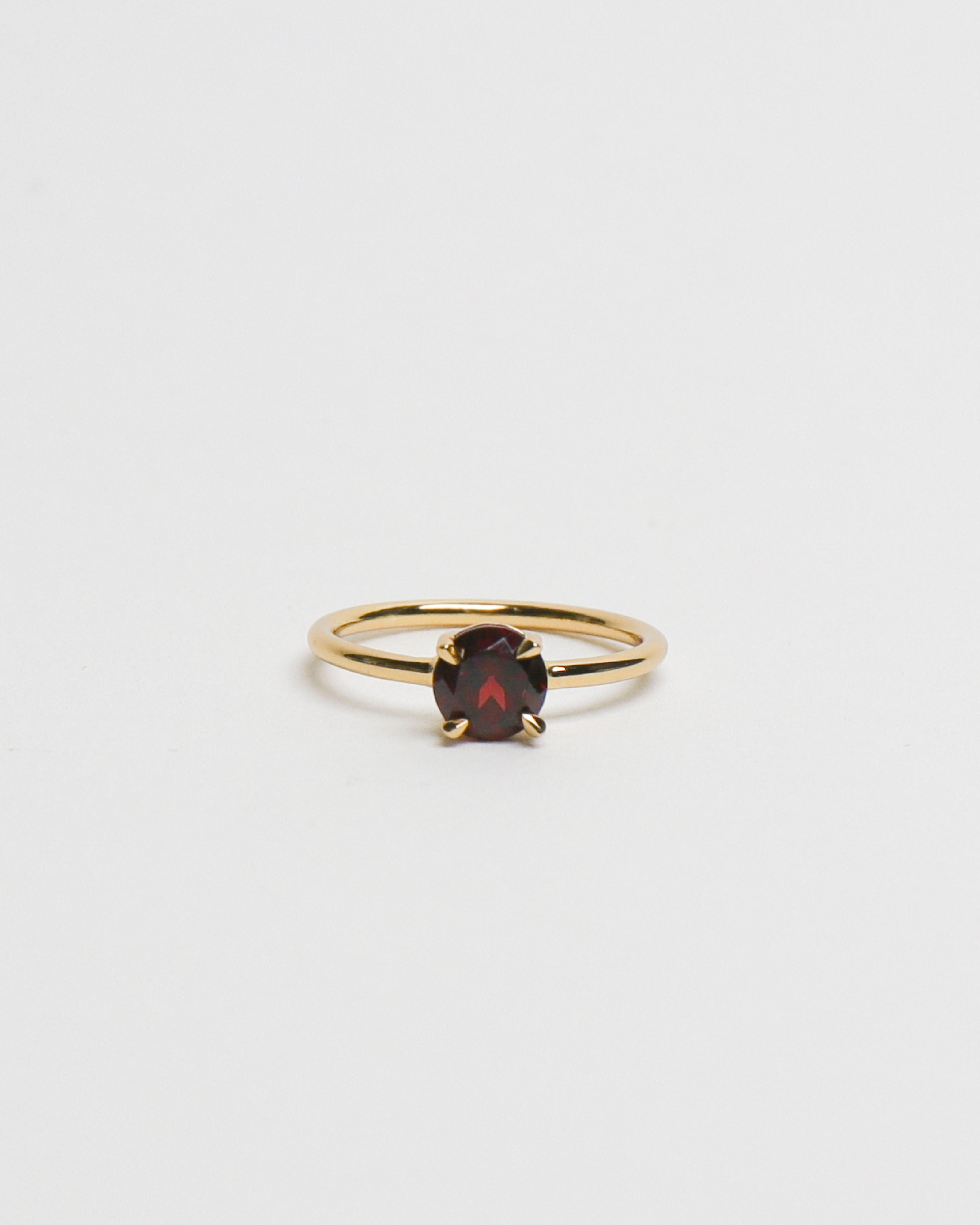 6mm Round Garnet Ring [US6.5]
