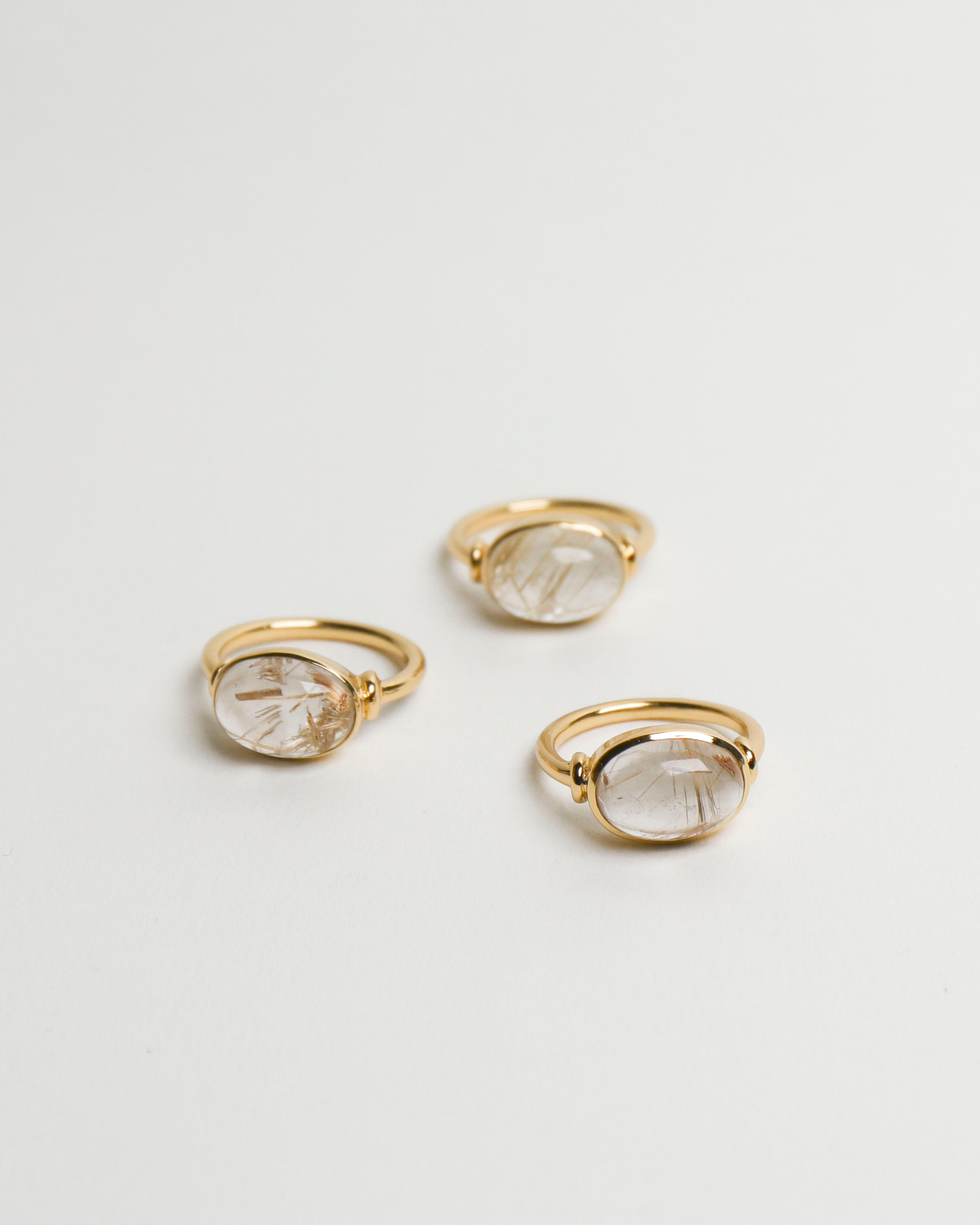 Gloria Ring: Gold Rutilated Quartz (1) [US7]