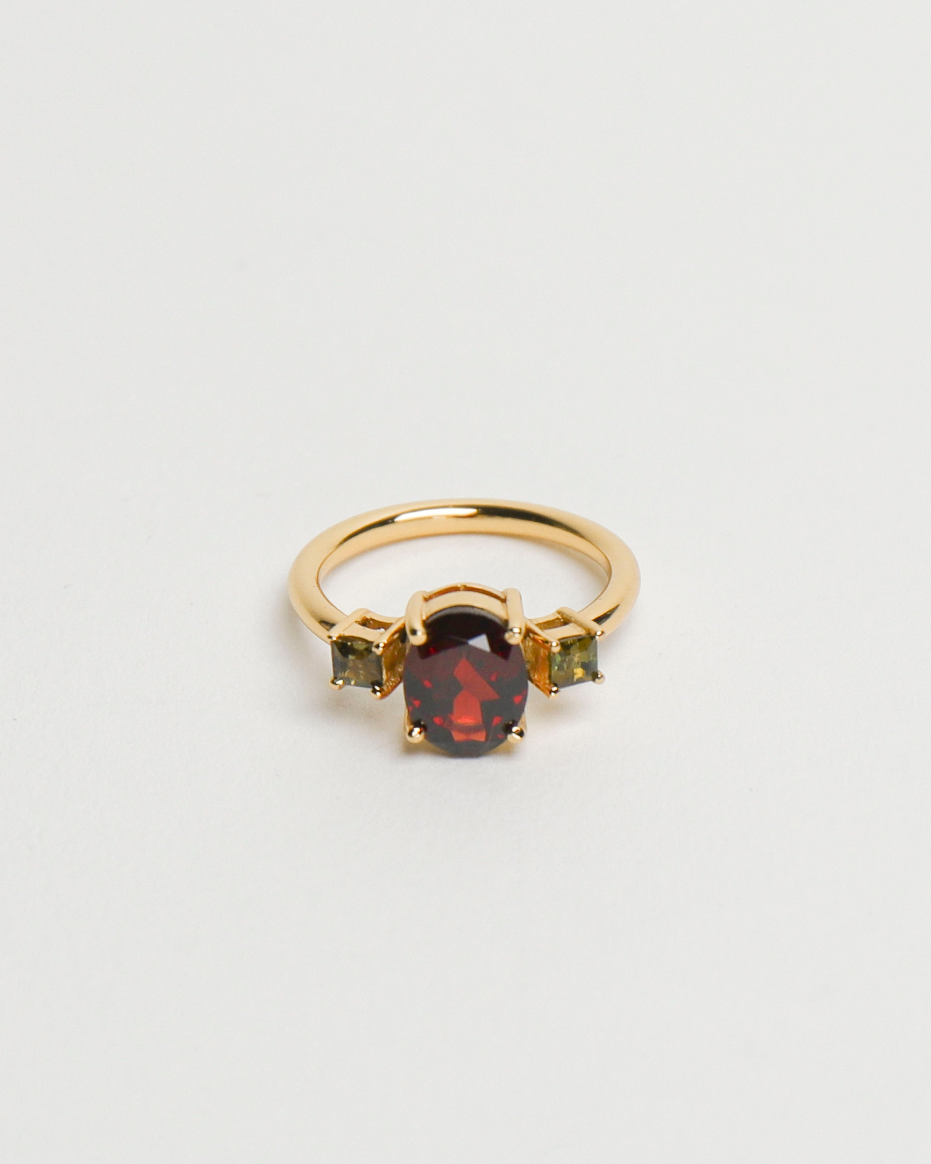 Marie Ring: Garnet & Tourmaline [US6.5]