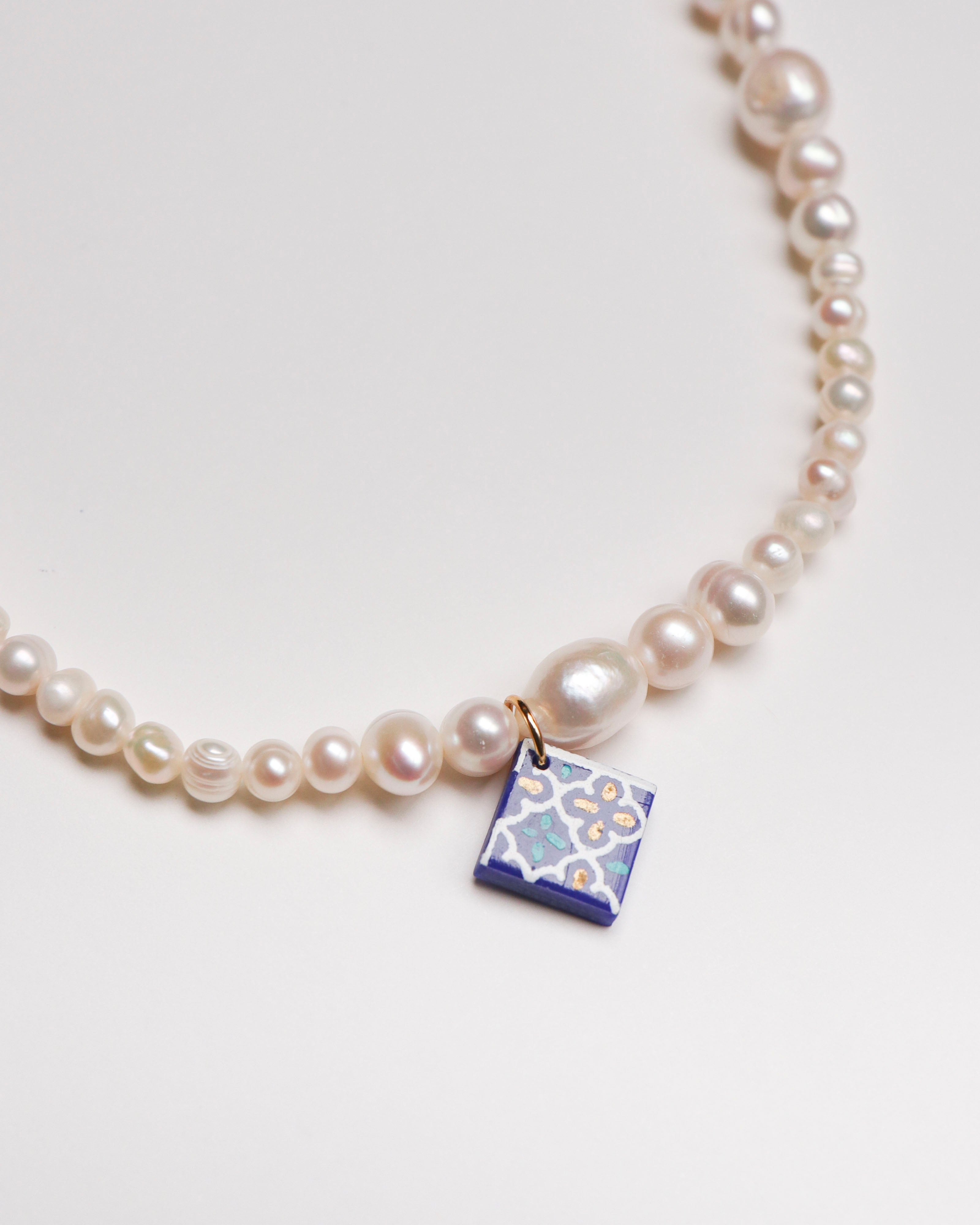 Ebb Necklace with Tile
