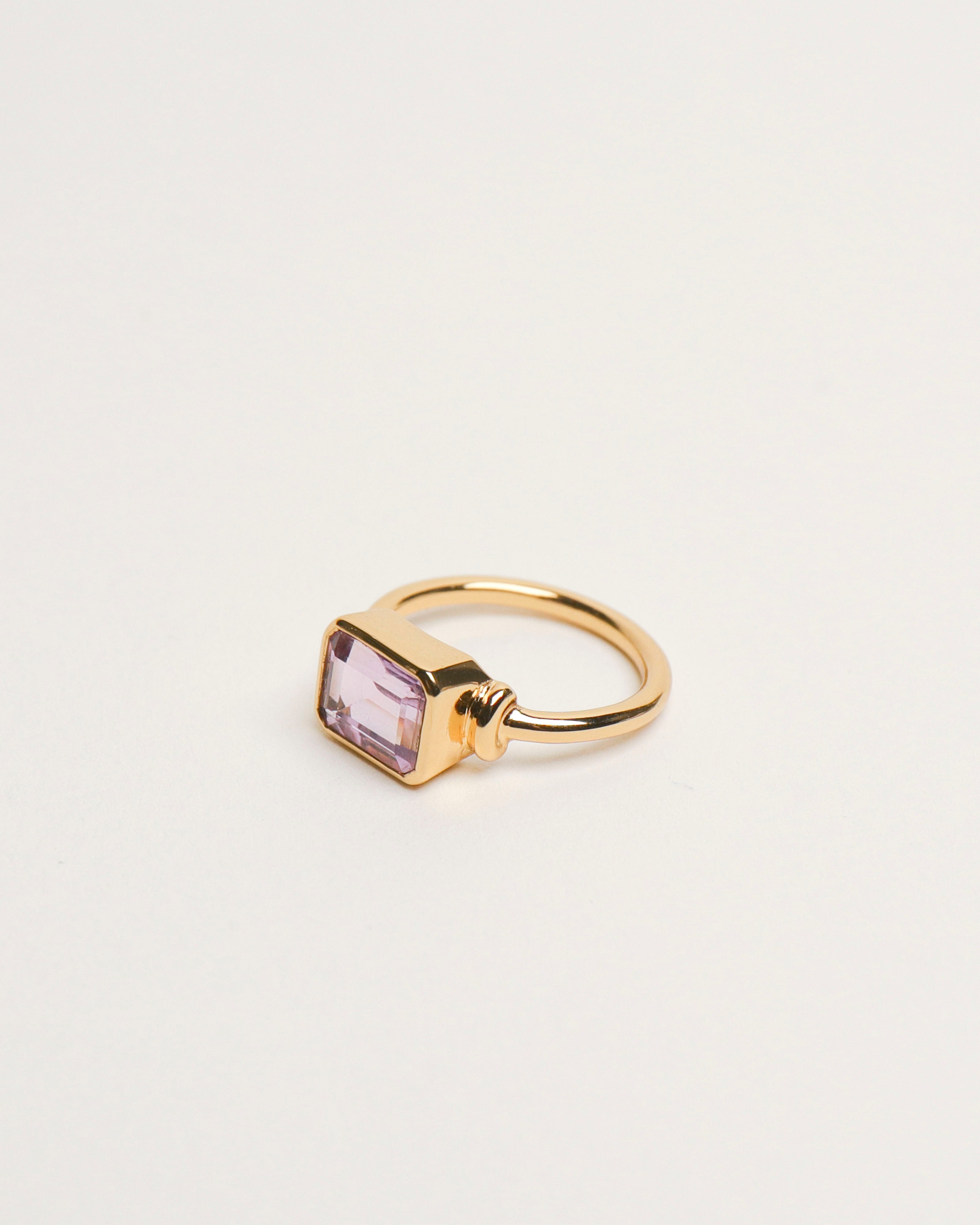Gloria Ring: Amethyst [Emerald Cut]