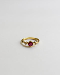 One of a Kind Ruby & Opal Ring