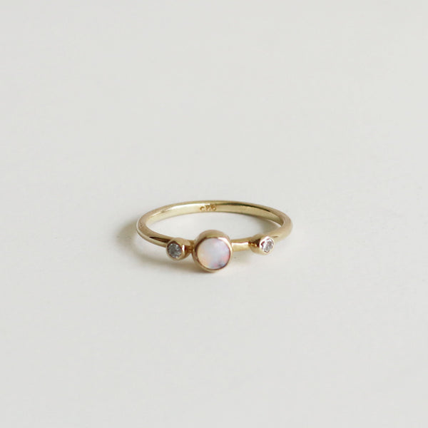 Spectra: Round Opal Ring