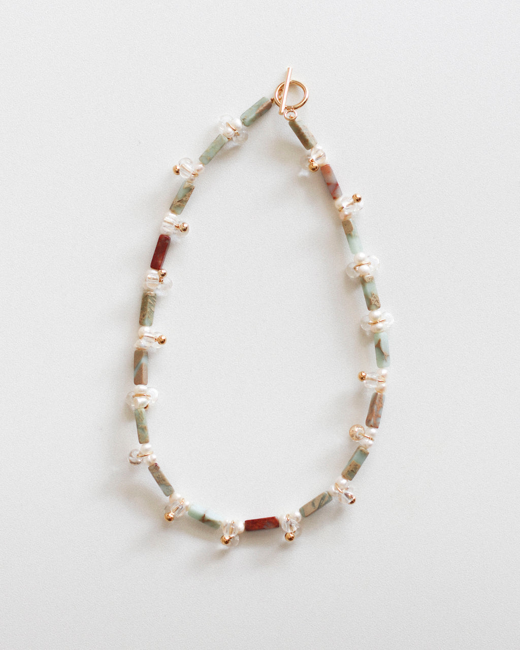 Droplets Necklace: Terra Jasper
