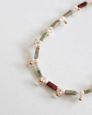 Block Necklace: Terra Jasper