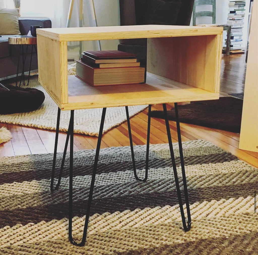 Picture of: Ideas Inspiration Hairpin Leg Side Tables Bed Stands Made With Diy Hairpin Legs