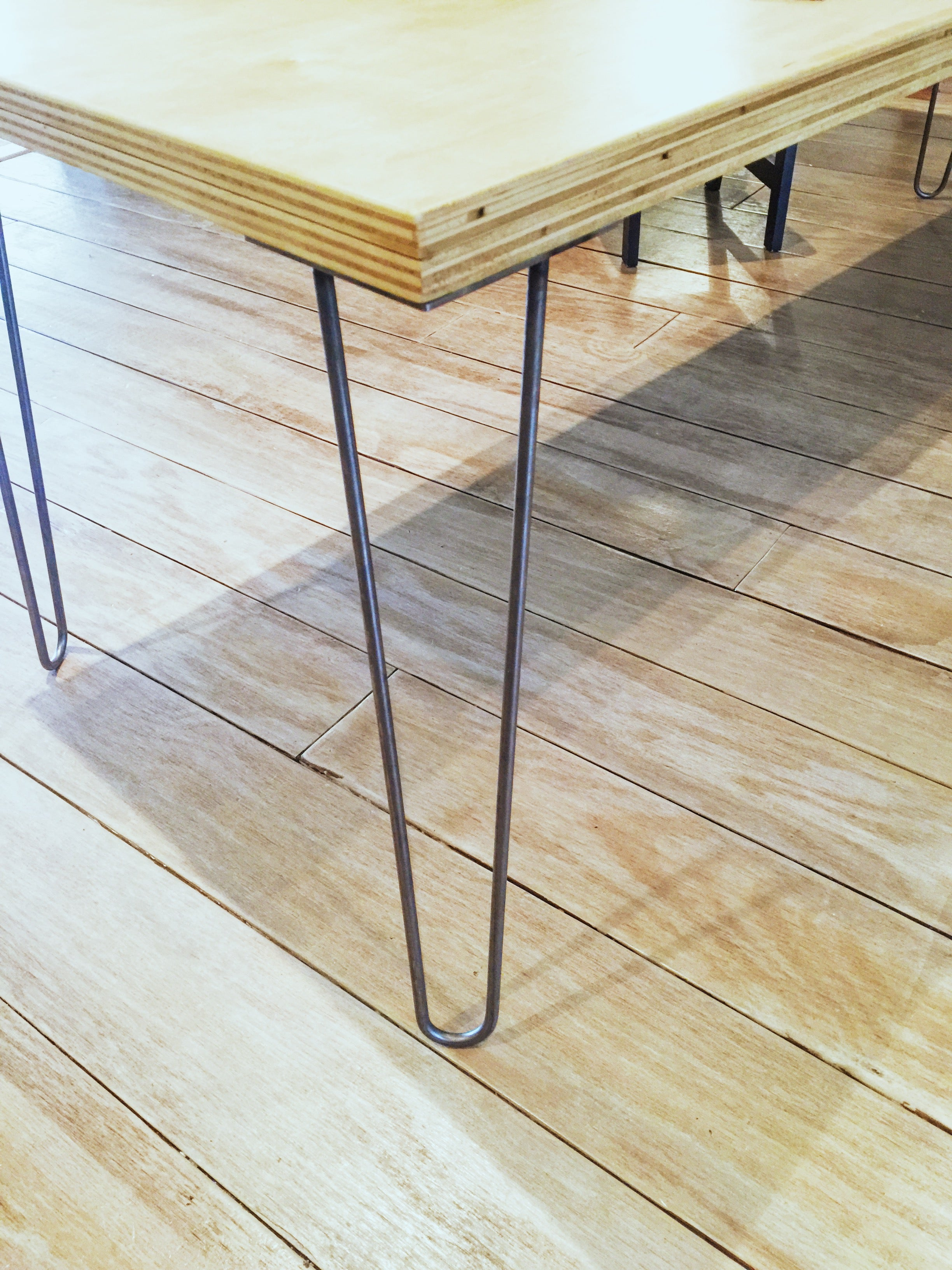 Uncategorized How To Attach Hairpin Legs build a modern back to school desk with diy hairpin legs i like bring my right up the edge of tables but some people prefer put them inside bit exaggerate angled look ha