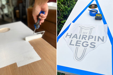 priming diy hairpin leg cornhole board design