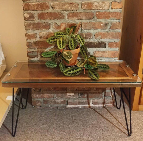 hairpin leg bench plant stand