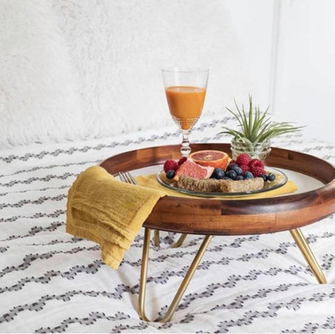 bed tray with hairpin legs