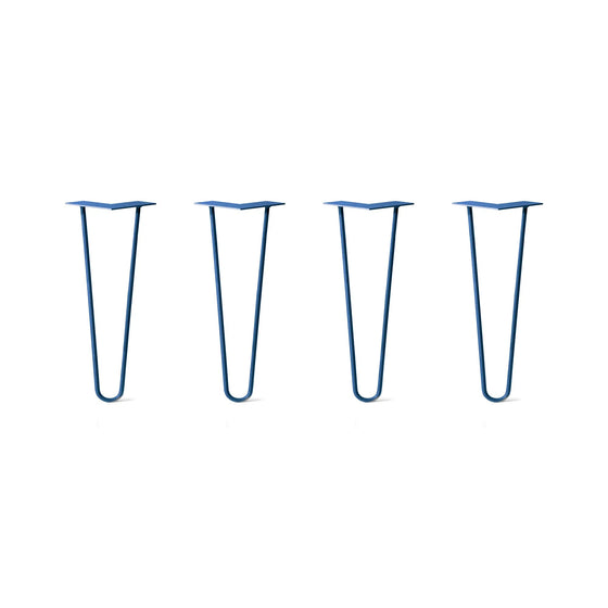 Hairpin Legs Set of 4, 2-Rod Design - Midnight Blue (Navy) Powder Coated Finish