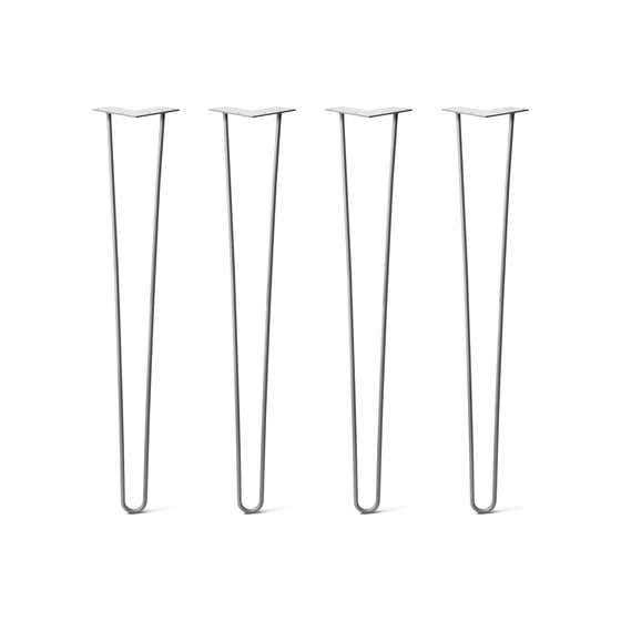 Hairpin Legs Set of 4, 3-Rod Design - Clear Coated Finish