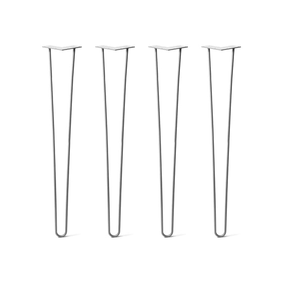 Hairpin Legs Set of 4, 2-Rod Design - Clear Coated Finish
