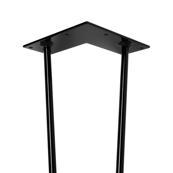 Hairpin Legs Set of 4, 2-Rod Design - Gloss Black Powder Coated Finish - Ships Same Day!