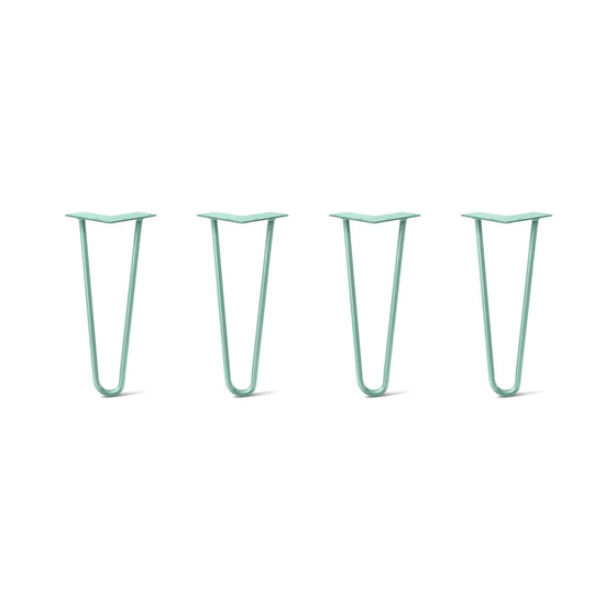 Hairpin Legs Set of 4, 2-Rod Design - Turquoise Powder Coated Finish