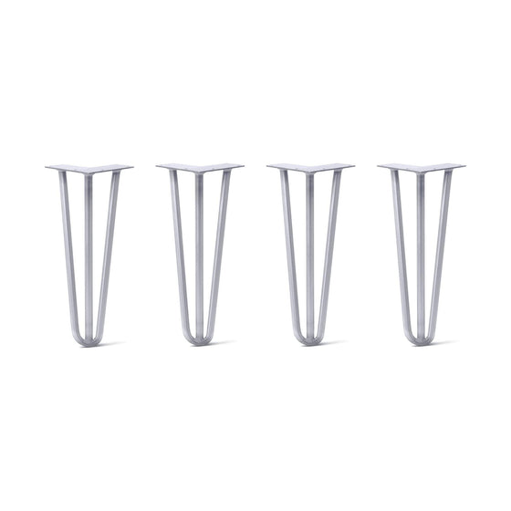 Hairpin Legs Set of 4, 3-Rod Design - Grey Powder Coated Finish